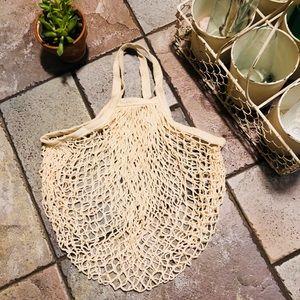 Handbags - ♻️FRENCH MARKET-SHORT HANDLE ECO COTTON NET BAG♻️